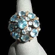 Multi-stone Aquamarine Ring 18k Gold