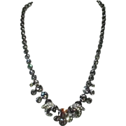 "Weiss ""Black Diamond"" Rhinestone Necklace"