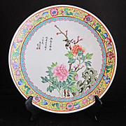 Vintage Charger Plate from Hong Kong