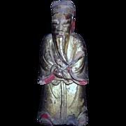 Antique Wood Hand Carved Man