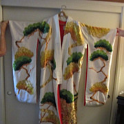 Antique Japanese Silk Uchikake Kimono