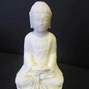 Vintage Oriental Quan Yen White Stone Carving