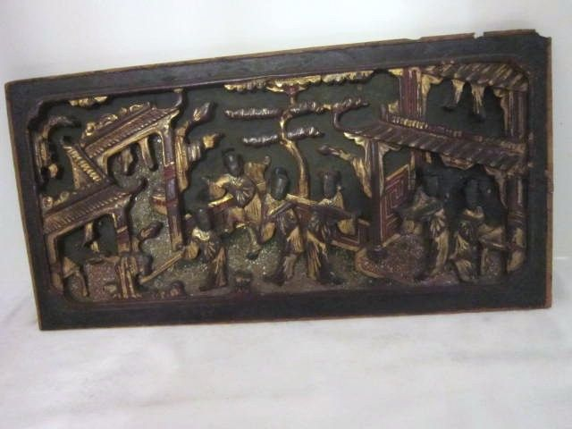 Chinese Architectural Wood Panel