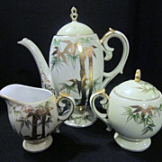 Vintage Japanese Tea Pot With Creamer And Sugar