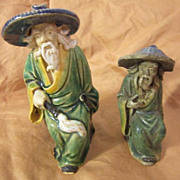 Pair of Vintage Chinese Mud Men