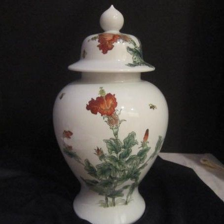 Vintage Nora Fenton Hand Painted Ginger Jar