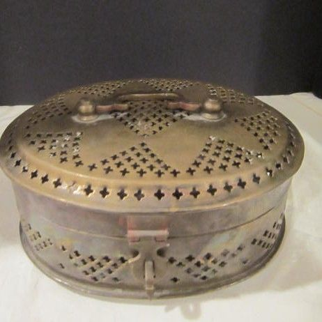 Vintage Brass Cricket Box Made in India