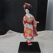 Vintage Geisha Doll on Stand