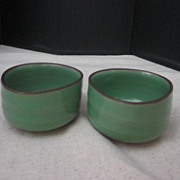 Vintage Pair of Tri-shaped Teacups