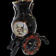 Black Japanese Chokin Brass Vase with Stand Choice