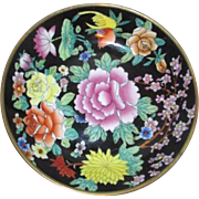 Hand Painted Floral Ceramic Display Bowl from China
