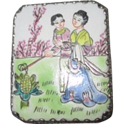 Chinese Box with Antique Porcelain Top