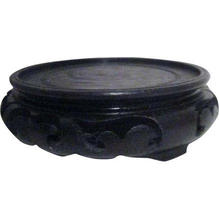 Round Black Wood Display Stand From Somethingwonderful On