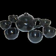 Jade Tea Pot with 6 Jade Cups