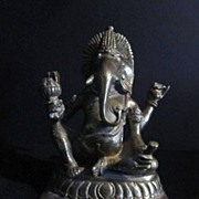 Vintage Brass Indian Ganesh God/Goddess Statue