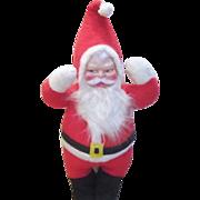 "Vintage Plush Santa 33"" Tall"