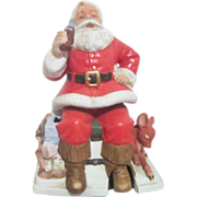 Melody in Motion Seated Santa with Coca Cola and Fawn