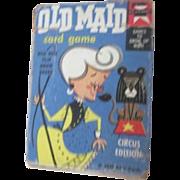 Old Maid Cards Circus Edition Ed-U-Cards 1959 Flip Movie Backs