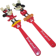 Pair of Disney Backscratchers Mickey and Minnie