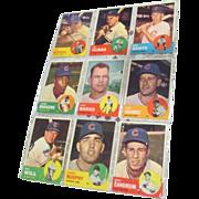 Set of 9 Topps Baseball Cards 1963 Cubs
