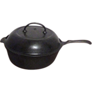 Wagner's 1891 Original Cast Iron Chicken Fryer with Lid