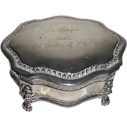 Silver Plated Inscribed Presentation Keepsake Box