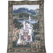 Hanging Wall Tapestry of Neuschwanstein Castle