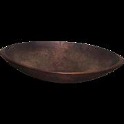 Antique Primitive Oval Wood Dough Bowl