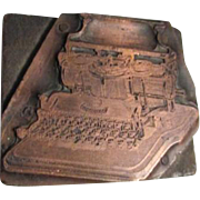 Printer's/Typesetter's  Wood Block Stamp with Hammond Typewriter