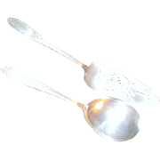 National Silver Co #4 Cake and Pie Server and Casserole Spoon