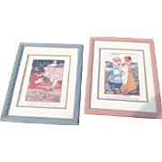 Two Framed Prints of Nursery Rhymes