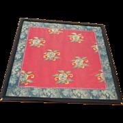 Framed Oriental Silk Material