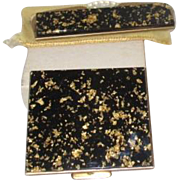 Alaskan Gold Fleck Compact with Matching Comb