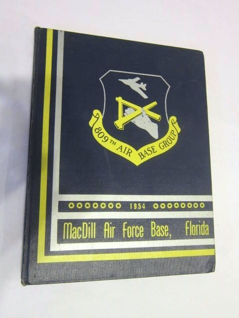 Vintage 1954 Year Book Mac Dill Air Force Base, Florida 809th  Base