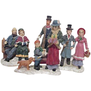 Set of 4 Figurines for Christmas Display