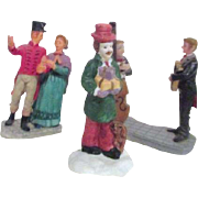 Set of 3 Figurines for Christmas Village