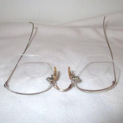 two pair of eyeglasses gold fill frames from
