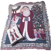Woven Christmas Throw with Matching Pillow