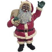 Hallmark Keepsake Christmas Ornament Black Santa 1992