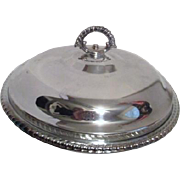 Silver Plated Covered Casserole Dish with Pyrex Insert