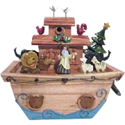 Noah's Ark at Christmas Music Box