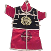 Asian Silk Brocade Doll's Ensemble for Male