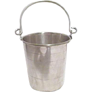 Small Silver Plate Bucket with Strainer