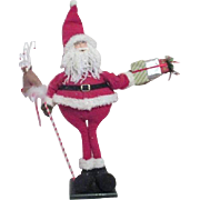 "Standing Christmas Santa 30"" High with Presents and Reindeer"
