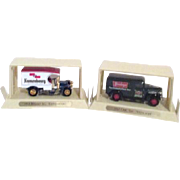 Set of 2 Matchbox Models of Beer Delivery Trucks