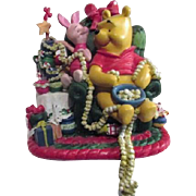 Winnie the Pooh and Piglet Christmas Stocking Hanger