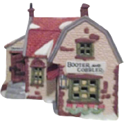 Dept 56 Christmas Heritage Village Collection Dickens Series Booter and Cobbler with Tannery