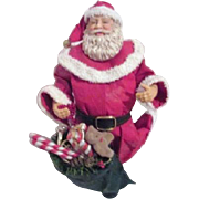 Old World Santa with Green Bag of Toys