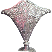 Silver Plated Ornate Altar Vase by Godinger Silver Art Co.