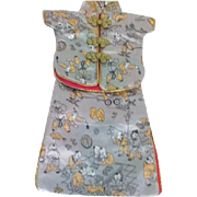 Asian Silk Brocade Doll's Ensemble for Female